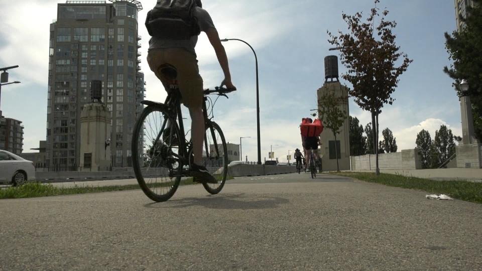 The Burrard Street Bridge bike lane is turning 10 years old.