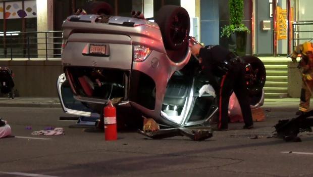 SUV, crash, 9th Street, 5th Avenue, downtown