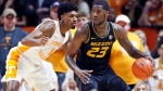 Missouri forward Jeremiah Tilmon (23) works for a shot as he's defended by Tennessee forward Kyle Alexander (11) during the first half of an NCAA college basketball game Tuesday, Feb. 5, 2019, in Knoxville, Tenn. (Wade Payne/AP)