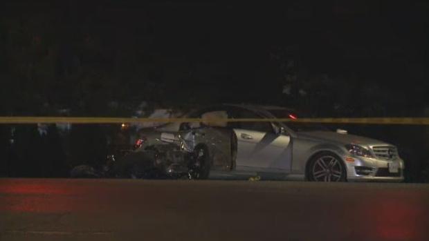 Motorcyclist killed in west-end crash
