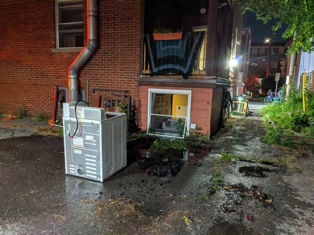 Dryer fire on Frank St