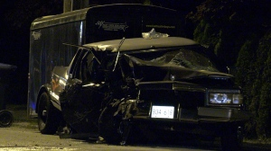A car crash in New Westminster knocked out power for a few hours.