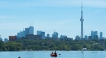 Hot weather is gripping Toronto but a rainy change is forecast for the city on Wednesday.