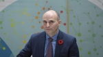 Minister of Families, Children and Social Development Jean-Yves Duclos looks on at the end of a press conference on changes to the Employment Insurance Program's caregiving, maternity and parental benefits at Montfort Hospital in Ottawa on Thursday, Nov. 9, 2017. THE CANADIAN PRESS/Justin Tang