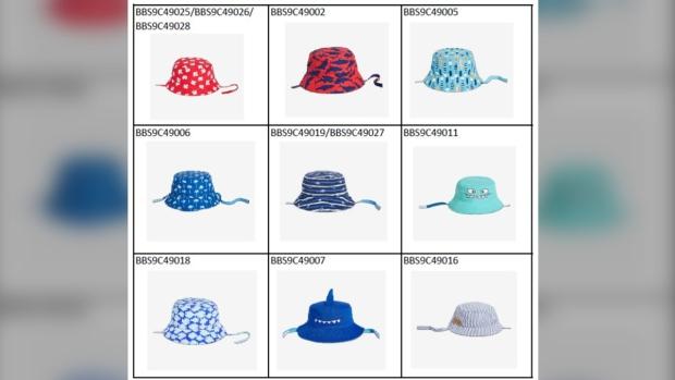 Joe Fresh hat recall