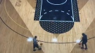 Drake basketball court