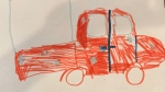 A nine-year-old's drawing of a truck could help a Utah police department find the suspects behind a series of package thefts. (Springville Police Department / Facebook)