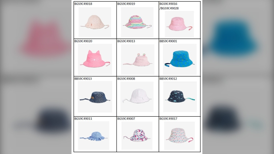 The hats come in sizes 0-12 months and 12-24 months. (Source: Government of Canada)