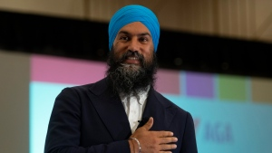 NDP leader Jagmeet Singh speaks to the Canadian Teachers Federation annual general meeting in Ottawa, Thursday July 11, 2019. THE CANADIAN PRESS/Adrian Wyld