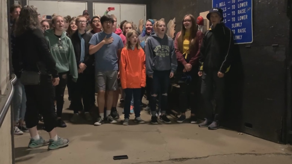 'Lean on me': Winnipeg youth choir's performance in mine shaft goes viral
