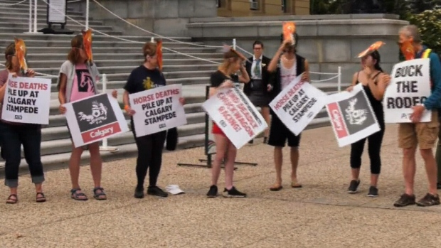 PETA legislature rally calls for end of chuckwagon racing