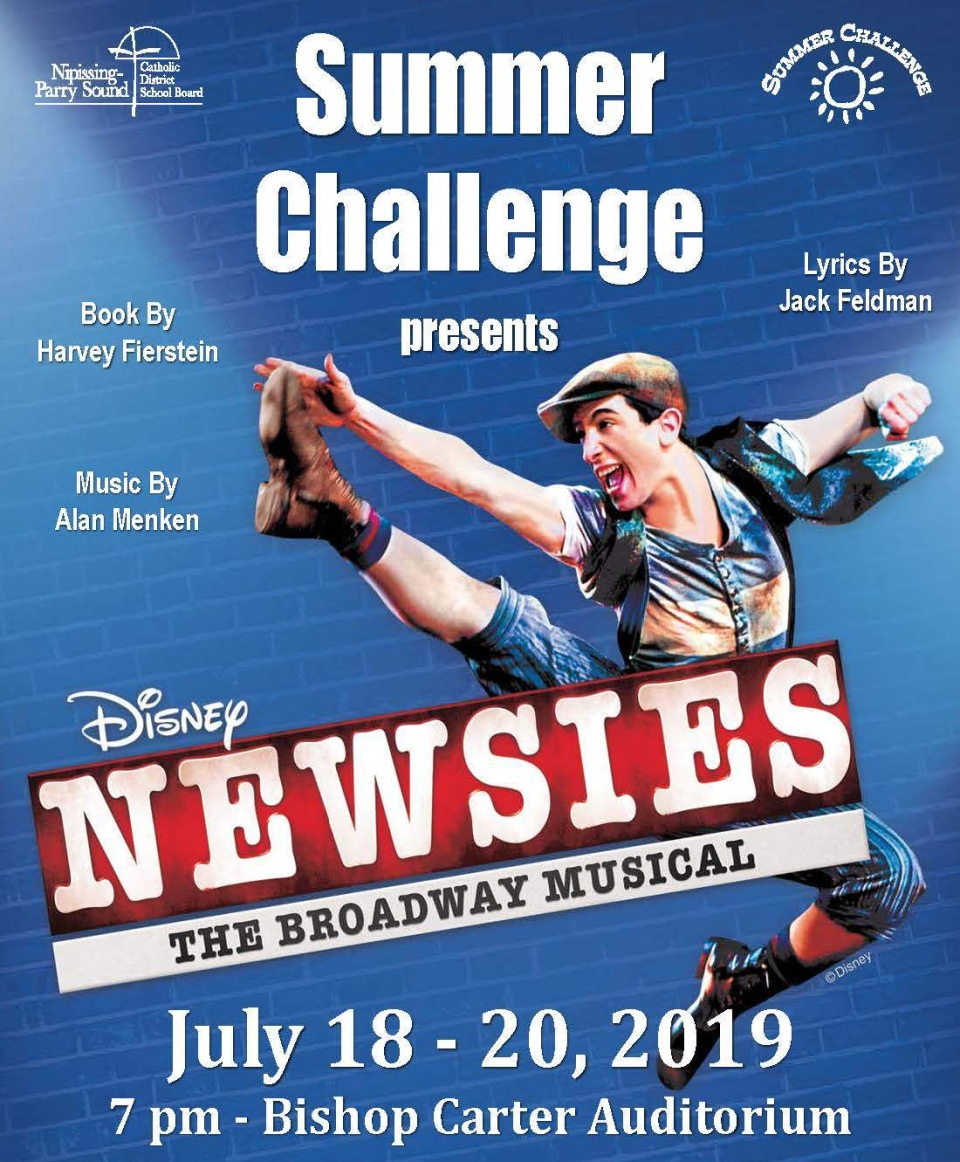 North Bay production of the musical Newsies