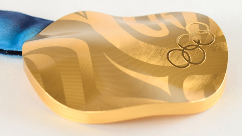 A gold medal from the 2010 Winter Olympic Games has been put up for auction. (RR Auction)