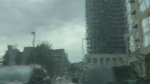Caught on camera: Sudden downpour