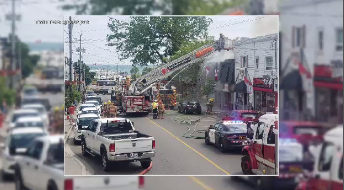 Fire closes Main Street in downtown Port Dover