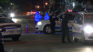 Officers responded to 911 calls from LaSalle at 9:10 p.m. Tuesday after residents heard several gun shots. (CTV Montreal/Cosmo Santamaria)