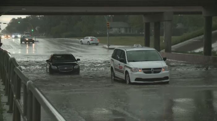 Flash flooding at the Albert Street underpass