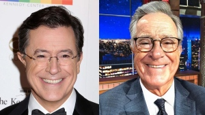 FaceApp has exploded with celebrities including Drake, Nick Jonas, NBA star Dwayne Wade and late-night host Stephen Colbert using it to edit pictures of themselves to appear decades older. (Photo by Greg Allen/Invision/AP, File, photo by colbertlateshow/Instagram)