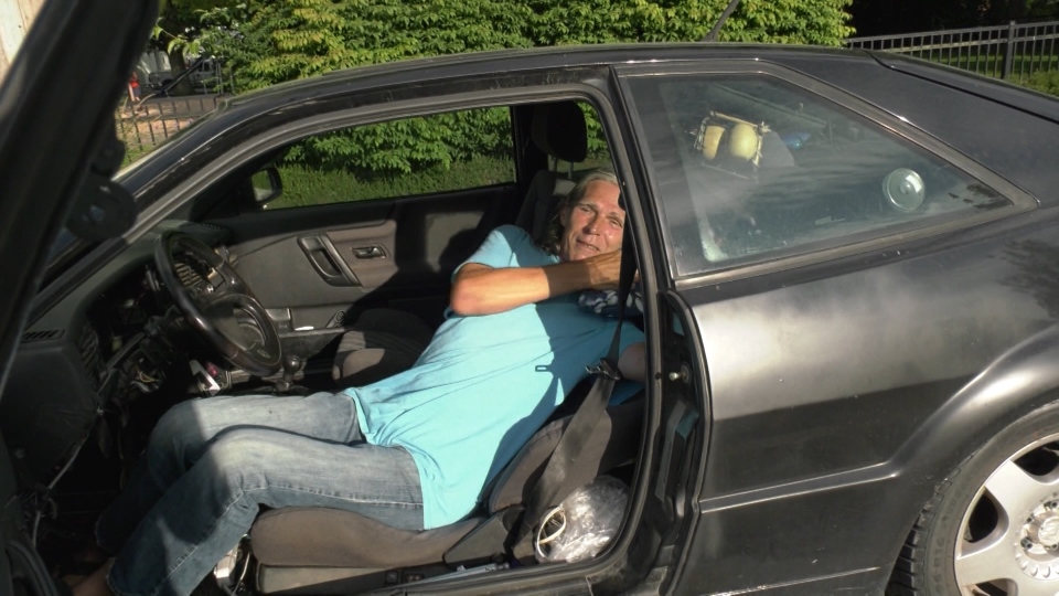 Wlodeck Zara sleeps in his car in Squamish and is concerned about the city's new bylaw.