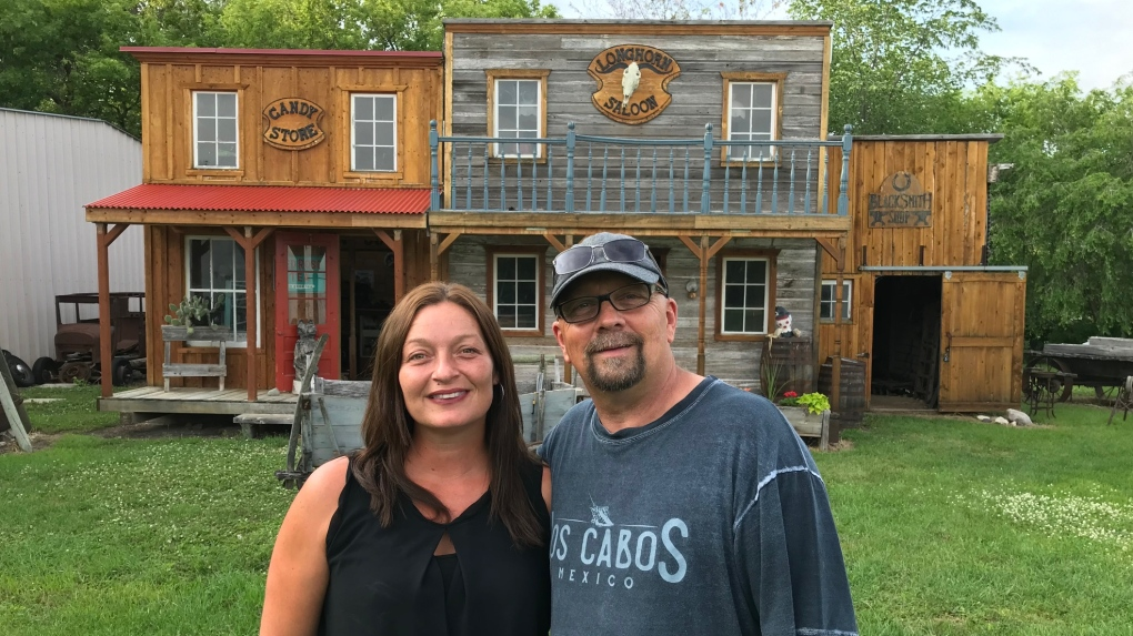 A Manitoba couple built a Wild West town for their wedding