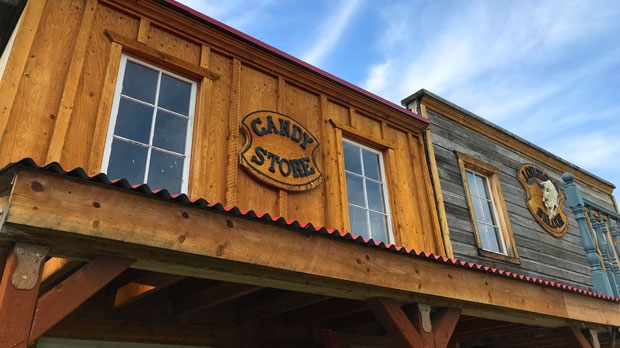 Dirk and Fiona Slikker from Garson, Manitoba built a full-sized Western town complete with a general store, a blacksmith shop, and a salon. Photo by CTV News.