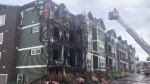 Fire officials say everyone made it out safely, but fire has caused extensive damage to the 29-unit, three-storey structure.