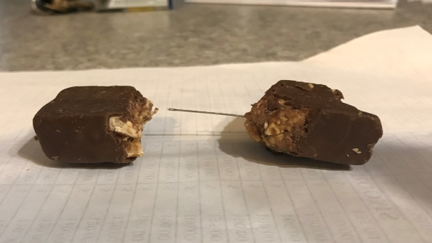 needle found in candy bar