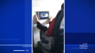 Trending: Bare feet on a plane