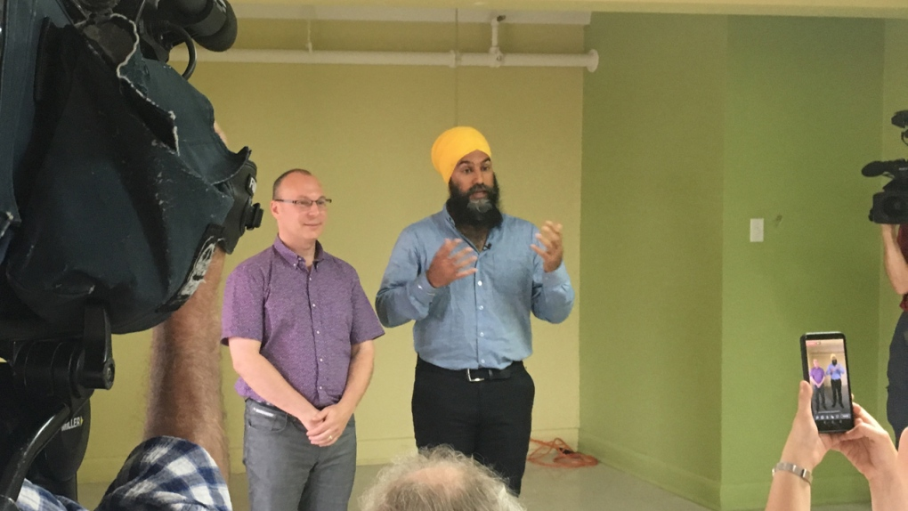 NDP leader Jagmeet Singh in Quebec to promote head-to-toe healthcare