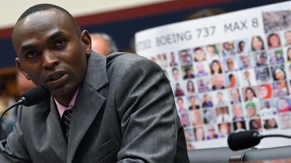 Paul Njoroge testifies during a House Transportation subcommittee hearing on Capitol Hill in Washington, Wednesday, July 17, 2019, on aviation safety. (AP Photo/Susan Walsh)