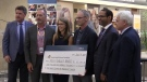 Rick and Shelley Baker donate to LHSC to establish the new Baker Centre for Pancreatic Cancer in London, Ont. on Wednesday, July 17, 2019. (Celine Moreau / CTV London)