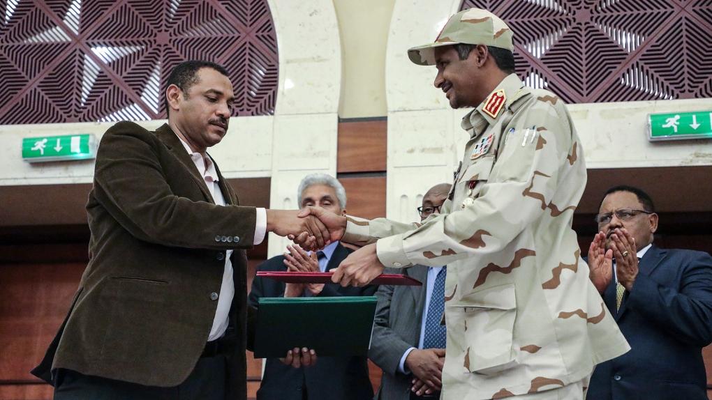 Sudan power sharing document signed in Khartoum