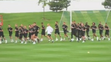 Real Madrid trains in Montreal.