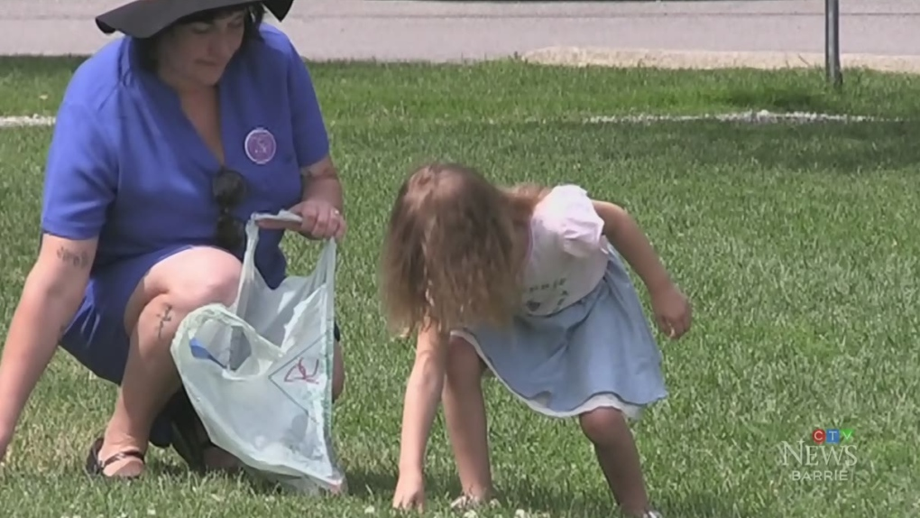 Five-year-old Orillia girl is on a mission to clean up the city