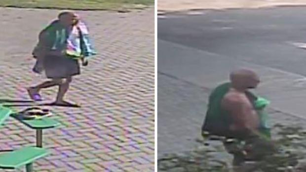 A man seen in surveillance photos