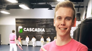 Nick Major's mother Carmen urged his students at Cascadia Martial Arts in Parksville to continue on with their training because it's what her son would have wanted. (Facebook)