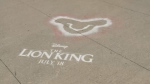Ads promoting the new Lion King movie began appearing on City of Ottawa sidewalks and bike paths this week.