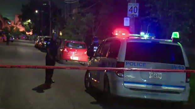 Montreal police spent the evening investigating th