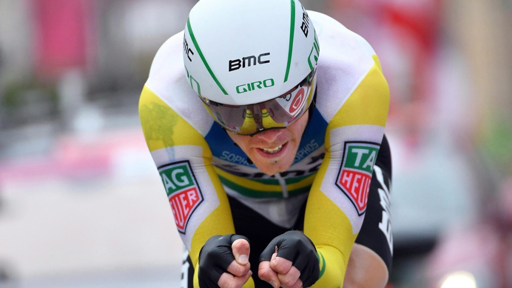 Rohan Dennis competes in 2018