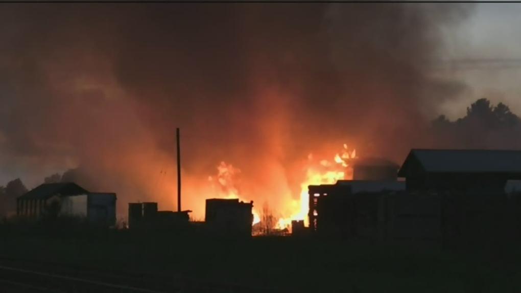 Firefighters battle massive blaze at Muskoka timber mill all night