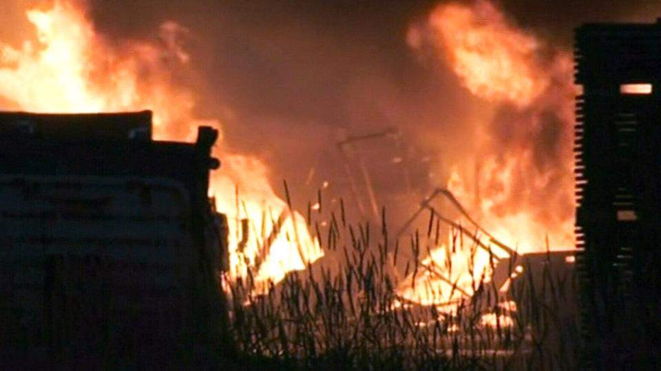 Fire at Muskoka Timber Mills