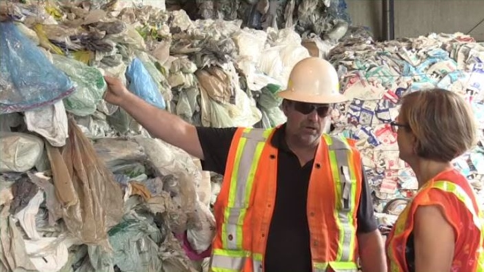 For about a year now, the Fundy Regional Service Commission, which serves the greater Saint John area, has been stockpiling the bags waiting for the market to open up so it can send them out for recycling.