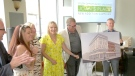 Plans for Joan's Place, which would support youth, young moms and moms-to-be, are unveiled in London, Ont. on Thursday, July 18, 2019. (Marek Sutherland / CTV London)