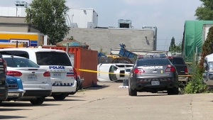The scene of a fatal industrial accident in Etobicoke on July 18, 2019 is seen. (CTV News Toronto / Peter Muscat)