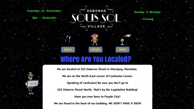 Sous Sol website