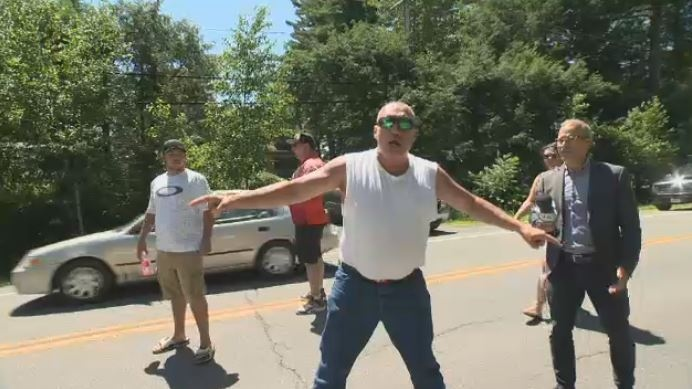 Tensions are rising at the border of Kanesatake and Oka over land.