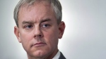 Dennis Oland attends a news briefing by his legal team in Saint John, N.B., on Nov. 20, 2018. (Andrew Vaughan / THE CANADIAN PRESS)