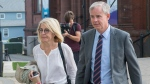 Dennis Oland and his wife Lisa arrive at the Law Courts in Saint John, N.B., on Friday, July 19, 2019. THE CANADIAN PRESS/Andrew Vaughan