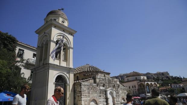 Damaged bell tower of Pantanassa church