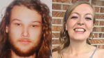 Lucas Fowler and Chynna Deese are shown in images provided by the RCMP.